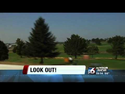 Golf balls hitting cars on I-84