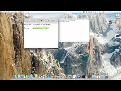 Show user Library Folder in OSX Lion