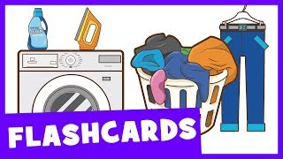 Learn Laundry Room Vocabulary | Talking Flashcards