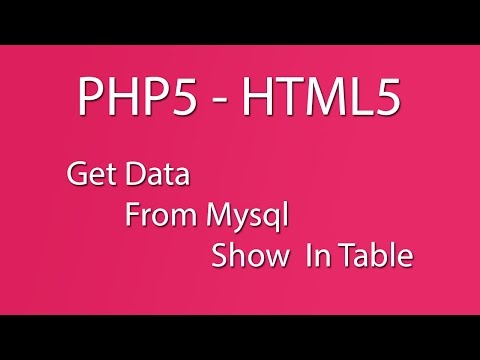 PHP5 - HTMl5 - Mysql - Mysqli_Connect() - Database - Get Data from Mysql  Show In Table