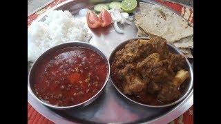 एकदा खाल्यानंतर चव विसरणार नाही असं हे चुलीवरीन झणझणीत गावरान मटण  Sukha Mutton