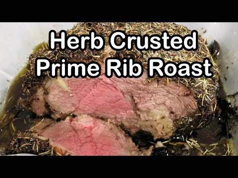 Prime Rib Roast | How to Cook a Standing Rib Roast | Herb Crusted Rib Roast | Chef Lorious