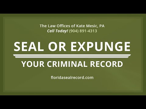 Record Sealed Or Expunged Florida | Mesic Law
