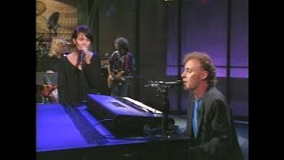 """Bruce Hornsby & Shawn Colvin, """"Lost Soul,"""" on Late Night, September 11, 1990"""