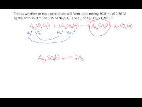 Ksp - precipitation reactions