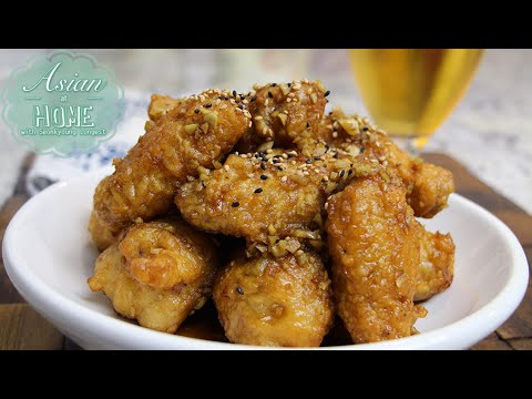 Korean Fried Chicken Wings with Sweet Garlic Sauce