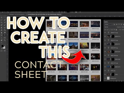 How to easily create a contact sheet in Photoshop