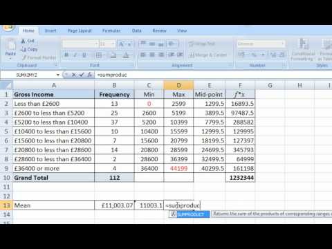 Ways of estimating the mean for grouped data.wmv
