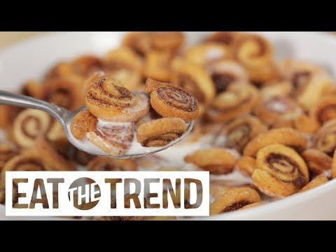 Mini Cinnamon Roll Cereal | Eat the Trend