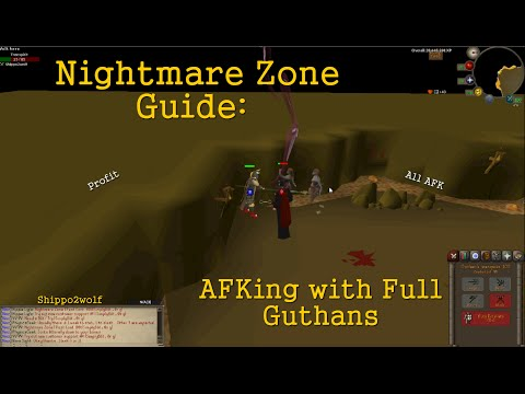 OSRS afk Nightmare Zone guide with Guthans