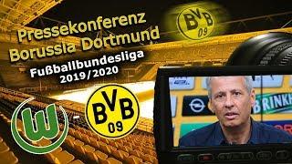 VfL Wolfsburg - Borussia Dortmund: Pk mit Lucien Favre und Michael Zorc
