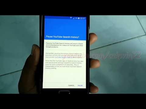 Google History : How to Turn off or Turn on Youtube Search History in Samsung Galaxy S5
