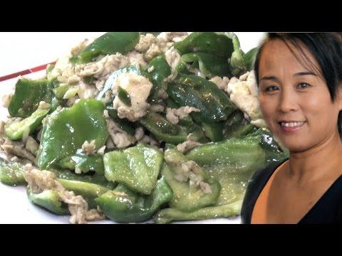 Chinese Stir Fry Green Peppers & Egg Recipe (Chinese Vegetarian Stir Fry Recipe)