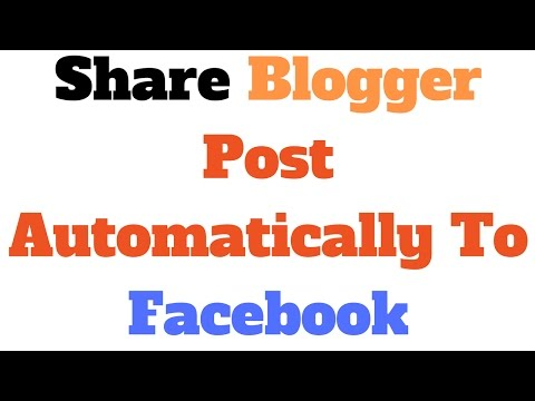 [HINDI] How To Share Blogger Post Automatically To Facebook