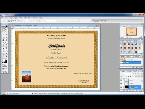 Photoshop tutorials | How to make your own certificate in Photoshop