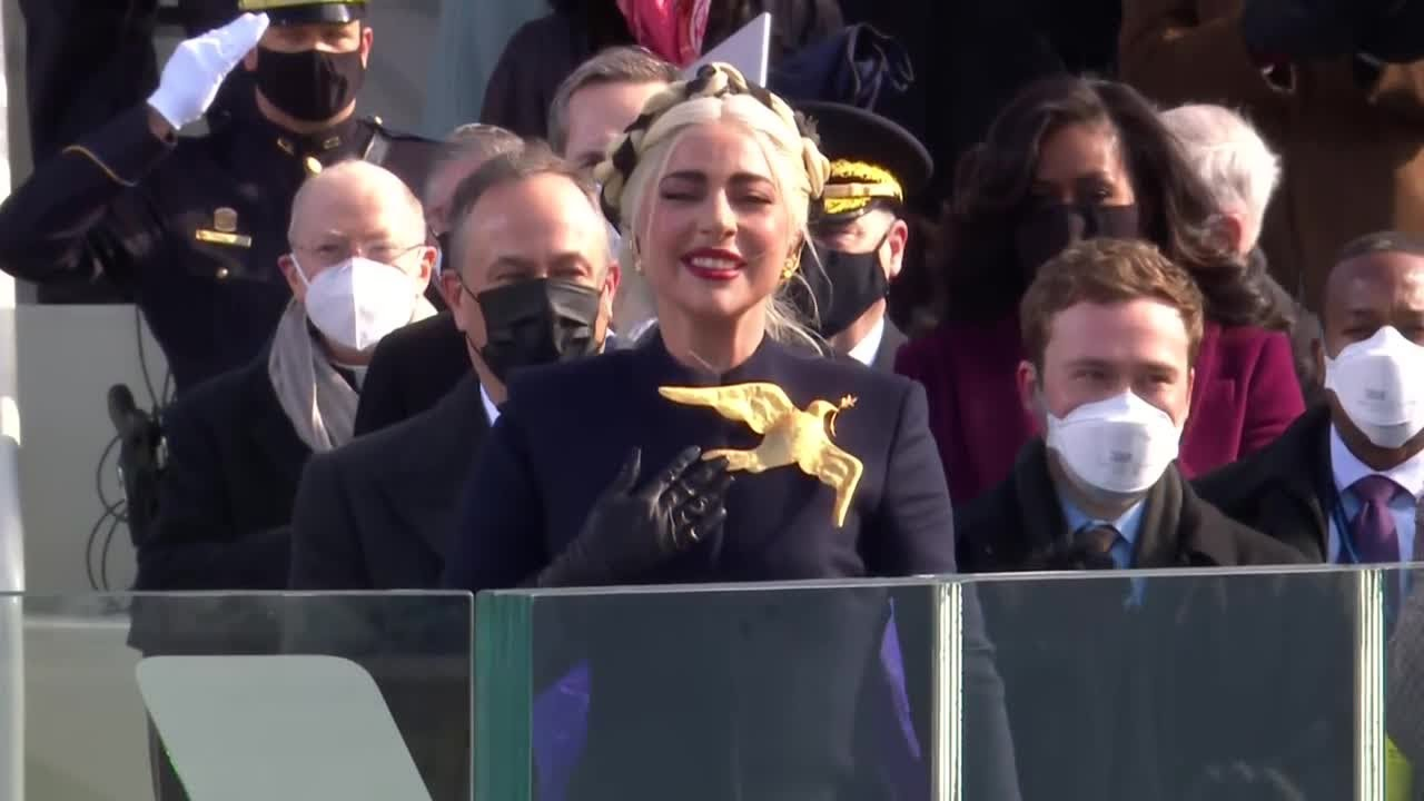 Lady Gaga sings national anthem, 'Star-Spangled Banner,' at Biden inauguration