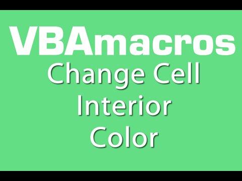 Change Cell Interior Color - VBA Macros - Tutorial - MS Excel 2007, 2010, 2013