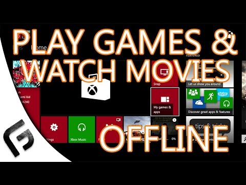 HOW TO PLAY XBOX ONE GAMES OFFLINE - Works 100%
