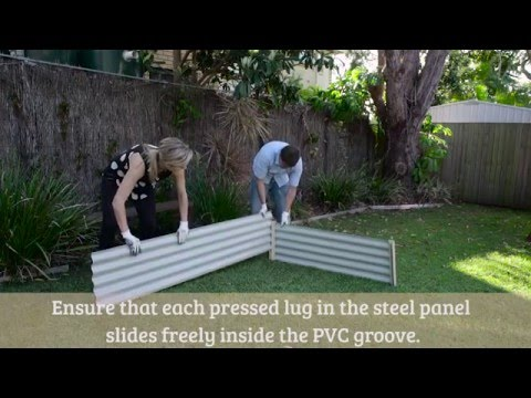 Organic Garden Co Rectangle Raised Garden Bed Assembly Video