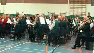 De Europa mars gezamelijk gespeeld door Nieuw Leven uit Angerlo, Nooit Gedacht uit Windesheim en Concordia uit Elburg op een concert in Elburg onder leiding van Jan Maat.