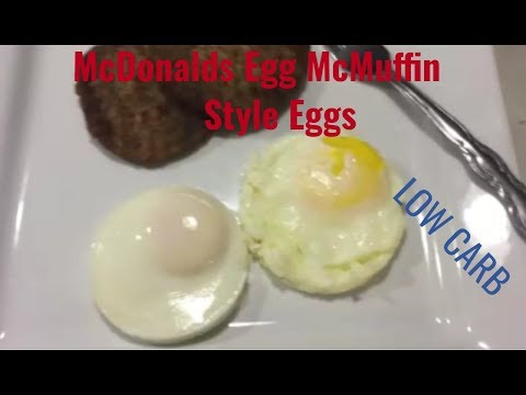 LOW CARB~ McDonalds Egg Mcmuffin Style Eggs ~KETO