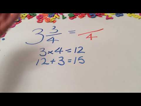 Fractions | Converting Mixed Numbers Into Improper Fractions