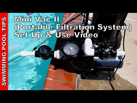 Mini Vac II Portable Filtration System Set Up and Use Video