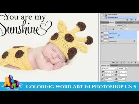 Add Color To Word Art in CS5