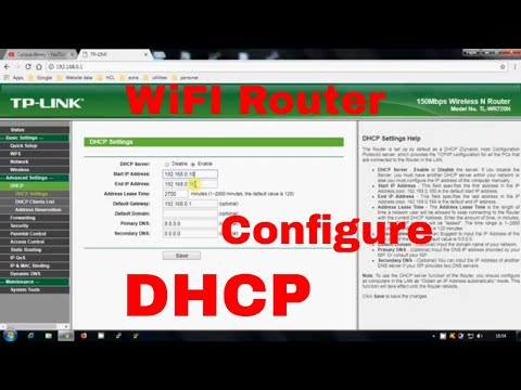 How to configure DHCP in Home Wifi Router || TP-Link Router