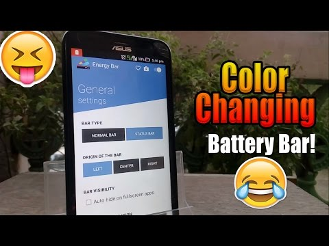 Add a Colorful Battery Bar on Top of Your Android Screen ☺♥☺