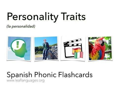 LEAF Spanish Phonic Flashcards: Personality Traits