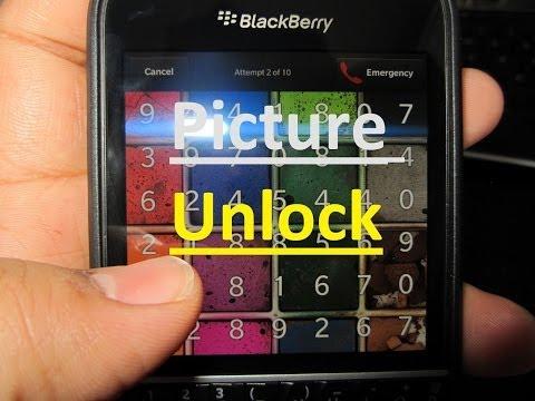 Picture Password unlock Blackberry Q10/Q5/Z10/Z30/Z3/LEAP/PASSPORT/CLASSIC
