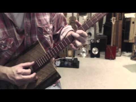 How to play Stairway to Heaven on a 3 string guitar - Cigar Box Guitar lesson