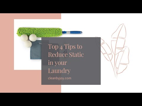 4 Tips to Reduce Static in your laundry