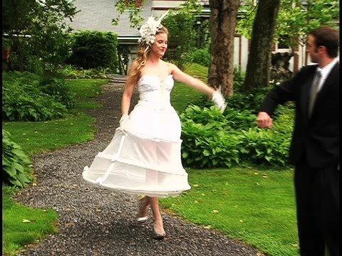 Hoopskirt 101 The Girlfriends Guide to Wearing a Big Wedding Dress