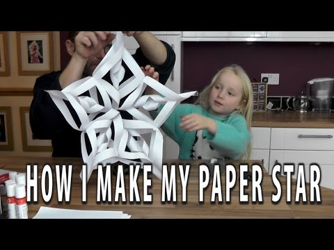 How I make a 3d christmas paper star, ornament, lantern. A tutorial by me