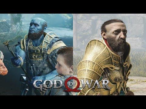 Meeting Brok & Sindri GOD OF WAR 4 (PS4 Pro)