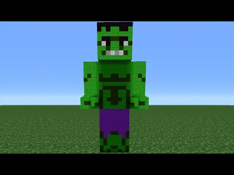 Minecraft 360: How To Make A Hulk Statue (The Avengers)