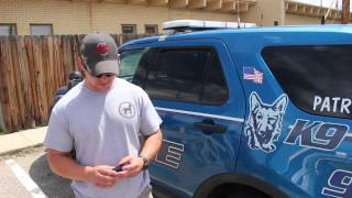 Casper Police Demonstrate Safety Features In K9 Unit Vehicles
