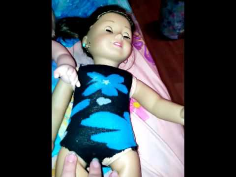 how to make American Girl doll leotard