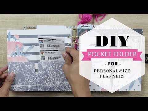 DIY Pocket Folders Tutorial for Personal-Size Planners
