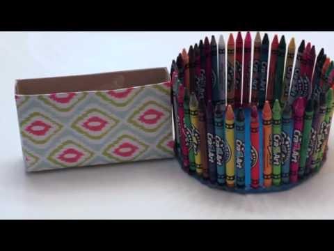 DIY Crayon Bowl and Locker Box
