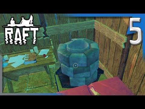 WE MADE A FURNACE! | Raft survival Game Gameplay/Let's Play E5