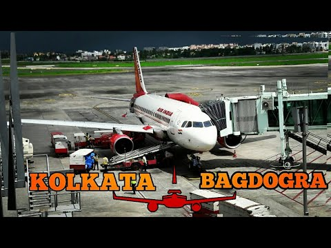 Fly High AIR INDIA| KOLKATA TO BAGDOGRA Full Journey| Lower Visebility and Live Rainfalls|AI 721✈💺✈