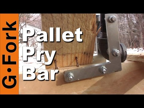 DIY Pallet Pry Bar - GardenFork
