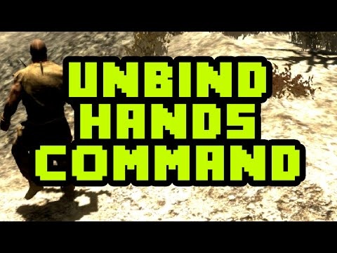 How To Unbind Your Hands in Skyrim using the Console 2017 - Skyrim Hands Bound Console Command PC