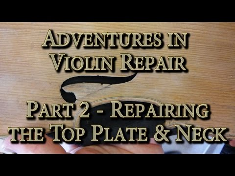 Adventures in Violin Repair - Part 2 - Top Plate, Body Work and Glue Up