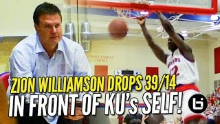 Zion Williamson BULLIES His Way to 39 & 14 in Front of KU