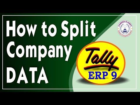 How to Split Company in Tally ERP 9 Part-90| Split Company Data Year Wise in Tally|Learn Tally ERP 9