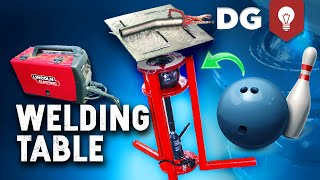 How To Build a Welding Table - DIY with a Bowling Ball for CHEAP!